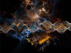 Inner Life of DNA Stock Illustration