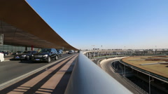 Overpass to Beijing international airport terminal 3 Stock Footage