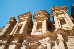 Petra monastery in Wadi Musa - stock photo