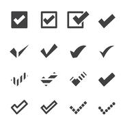 confirm icons - stock illustration