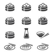 dim sum icon - stock illustration