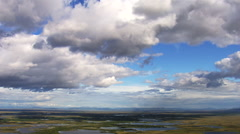 Stock Video Footage of Aerial Shot Of Alaska Wetland