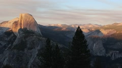 Sunset at Glacier Point, Yosemite National Park Stock Footage