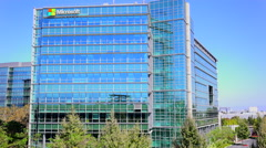 Establishing shot of Microsoft Headquarters in silicon valley, california. Stock Footage