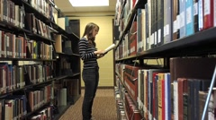 Student and college library Stock Footage