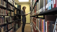 Stock Video Footage of Student and college library