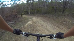Fire trail riding - stock footage