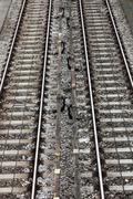Rails in the city Stock Photos