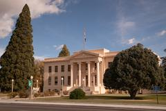 Inyo County Courthouse Main Street Highway 395 Independence California - stock photo