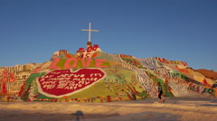 Salvation Mountain Time lapse Stock Footage