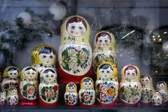 Russian toy - babushka Stock Photos
