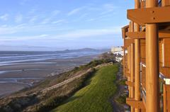 Newport Oregon lodging with a view. - stock photo
