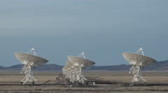 4K Time lapse Very Large Array Radio Telescopes Stock Footage