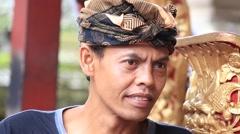 Video 1920x1080 - Portrait indonesian man to Bali island. Stock Footage