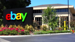 Establishing shot of eBay Headquarters in silicon valley, california. - stock footage