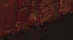 Blood on the cross - stock footage