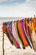 Beautiful colourful scarfes - stock photo