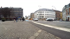 City area Frederiksberg in Copenhagen Stock Footage