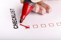To Do list or checklist with check marks isolated on white Stock Photos