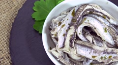 Anchovies (not loopable) Stock Footage