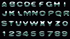 loop alpha matted colored alphabet - stock footage