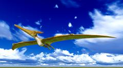 Stock Illustration of Flying pterodactyl