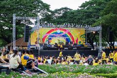 """Chaloem Phra Kiat"" Music Festival Stock Photos"