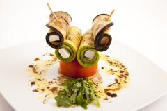 Food plate appetizer Stock Photos
