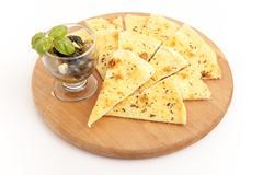 Pizza  bread slices - stock photo