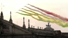 Tricolour Arrows aerobatcs team (italy) - stock footage