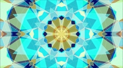 Abstract kaleidoscope animation with colorful geometric pattern. Seamless loop. Stock Footage