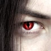 Face of a young male vampire close up Stock Photos