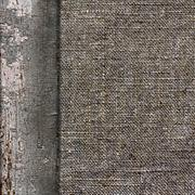 Background of old wood burlap limited in vintage style - stock photo