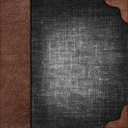 Cloth cover album with leather  rootlet Stock Photos