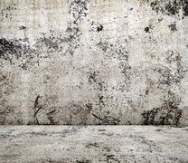 concrete room in grunge style,  urban background - stock photo