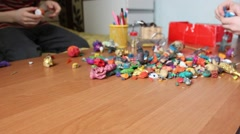 Plasticine figurines Stock Footage