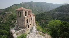 Saint Mary church at Asen's Fortress Stock Footage