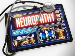 Neuropathy on the Display of Medical Tablet Stock Illustration