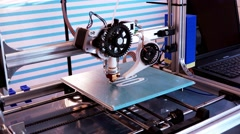 Working 3d printer Stock Footage