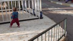 Newly walking baby 2 Stock Footage
