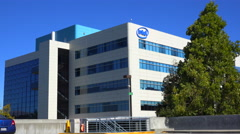 Establishing shot of Intel Headquarters in silicon valley, california. Stock Footage