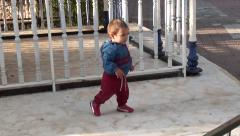 Newly walking baby 3 Stock Footage