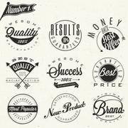 Set of business symbols Stock Illustration