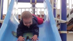 Sliding headfirst Stock Footage