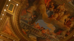 Lobby Ceiling Of The Venetian Hotel, Las Vegas, Nevada Stock Footage