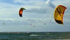 Kite Surfers Stock Footage