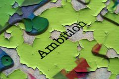 Stock Photo of Ambition puzzle concept