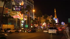 Las Vegas Blvd with MargaritaVille Casino, Nevada Stock Footage