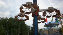 Amusement park in Moscow. HD. 1920x1080 Stock Footage