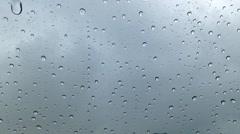 Raindrop on glass - stock footage